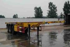 运腾驰牌SDT9400TWY型危险品罐箱骨架运输半挂车图片