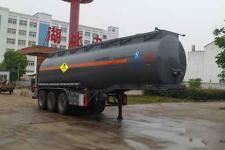中汽力威牌HLW9400GYW型氧化性物品罐式运输半挂车图片