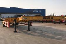 中集牌ZJV9350TJZQDX型集装箱运输半挂车图片