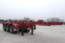 萬祥8.5米35吨3轴集装箱运输半挂车(HWX9405TJZG)
