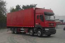 东风柳汽国四前四后八厢式运输车269-321马力15-20吨(LZ5311XXYQELA)