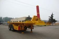 梁山东岳8米28.7吨2轴平板自卸半挂车(CSQ9350ZZXP)