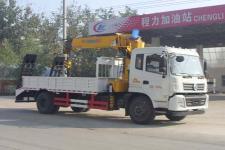 东风153|6.3吨随车吊,挖机带爬梯货箱13607286060