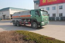绿叶牌JYJ5257GFWE型腐蚀性物品罐式运输车图片