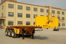 郓腾8米32吨3轴平板自卸半挂车(HJM9400ZZXP)