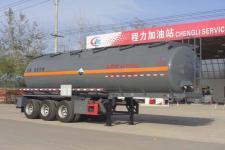 程力威9.8米31.5吨3轴腐蚀性物品罐式运输半挂车(CLW9400GFWA)