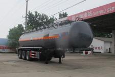 程力威10.9米29.5吨3轴腐蚀性物品罐式运输半挂车(CLW9407GFWB)