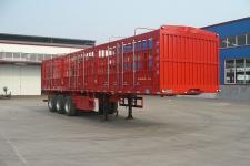 金君卫牌HJF9371CCYA型仓栅式运输半挂车图片