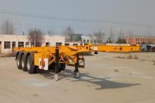聊工牌HTL9400TJZA型集装箱运输半挂车图片