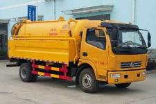 国五东风多利卡5.5+2型清洗吸污车