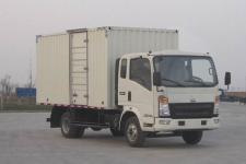 重汽HOWO轻卡国五单桥厢式运输车131马力5吨以下(ZZ5047XXYF341CE145)