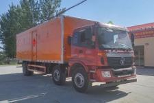 国五欧曼小三轴易燃气体厢式运输车