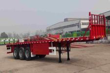 华骏12.5米29.2吨3轴平板运输半挂车(ZCZ9400TPBH)