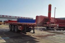 新宏东8米32吨3轴平板自卸半挂车(LHD9400ZZXP)