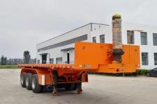 中鱼骏达8米31.8吨3轴平板自卸半挂车(YJD9400ZZXP)