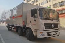 国五东风小三轴易燃气体厢式运输车