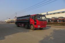 国五解放小三轴腐蚀性物品罐式运输车