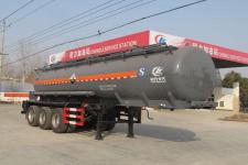 程力威9.9米31.3吨3轴腐蚀性物品罐式运输半挂车(CLW9401GFWB)
