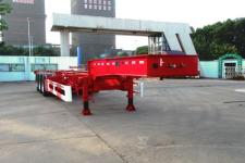 通华牌THT9400TWYA型危险品罐箱骨架运输半挂车图片