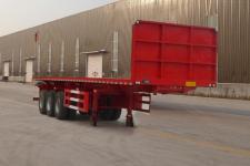 祥荷11米32.8吨3轴平板自卸半挂车(JJN9401ZZXP)