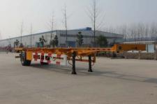 国世华邦12.4米12.2吨1轴空载集装箱运输半挂车(XHB9150TJZ)