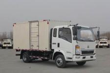 重汽HOWO轻卡国五单桥厢式运输车95-143马力5吨以下(ZZ5047XXYF3315E145)