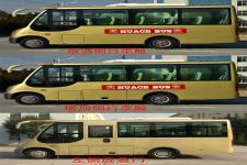 华新牌HM6602LFD5X型客车图片3
