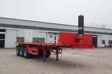 鲁际通9米31.8吨3轴平板自卸半挂车(LSJ9401ZZXP)