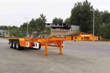 开乐12.5米34.5吨3轴危险品罐箱骨架运输半挂车(AKL9401TWY01)