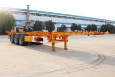 开乐12.4米34吨3轴危险品罐箱骨架运输半挂车(AKL9401TWY)