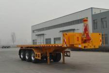 豫前通8米32.8吨3轴平板自卸半挂车(HQJ9400ZZXPD)