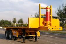 同强7米28.3吨2轴平板自卸半挂车(LJL9350ZZXP)