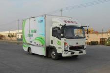 豪沃牌ZZ5047XXYF331CZ145BEV型纯电动厢式运输车图片