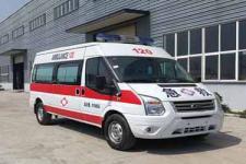 新全顺V348中轴中顶运输型监护型救护车厂家价格