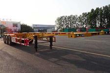 萌山12.3米35.1吨3轴危险品罐箱骨架运输半挂车(MSC9400TWY)