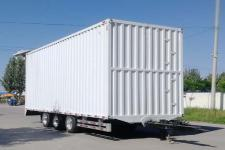 龙挂9.5米18.5吨3轴厢式中置轴挂车(LGC9240XXY)