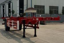 沃德利12.4米11.7吨1轴空载集装箱运输半挂车(WDL9150TJZ)