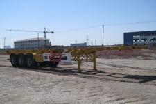 中集12.4米33.9吨3轴危险品罐箱骨架运输半挂车(ZJV9400TWYYK)