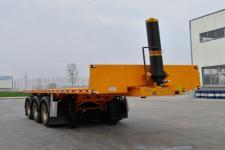 锣响7.8米33.3吨3轴平板自卸半挂车(LXC9402ZZXP)