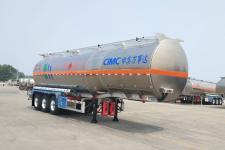 万事达11.9米33.5吨3轴铝合金易燃液体罐式运输半挂车(SDW9405GRYB)