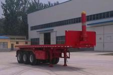 华鲁业兴9米31.9吨3轴平板自卸半挂车(HYX9400ZZXP)