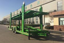 川腾11.1米7.5吨2轴中置轴车辆运输挂车(HBS9150TCL)