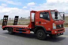 東風牌單橋拉15噸挖機的平板運輸車直銷