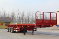 雨辰12.5米31.5吨3轴平板自卸半挂车(SCD9400ZZXP)