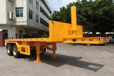 明威7.7米27.6吨2轴平板自卸半挂车(NHG9340ZPB)