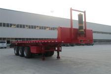 广科9.5米31.5吨3轴平板自卸半挂车(YGK9400ZZXP)