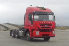 红岩后双桥,后八轮危险品运输半挂牵引车350马力(CQ4256HTVG334AU)