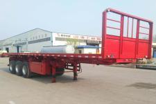 斯派菲勒10米32.4吨3轴平板自卸半挂车(GJC9402ZZXP)