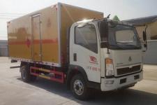 程力威牌CLW5101XRQZ5型易燃气体厢式运输车