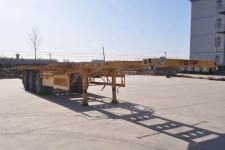 旗林12.6米34.3吨3轴危险品罐箱骨架运输半挂车(QLG9402TWY)